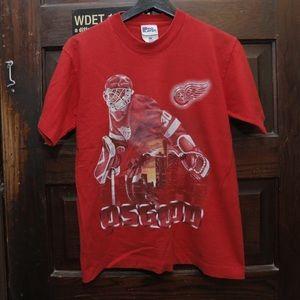 Vintage Chris Osgood Detroit Red Wings Shirt